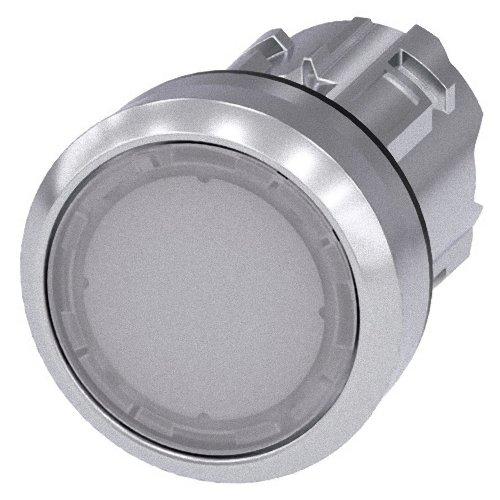 Preisvergleich Produktbild Siemens SIRIUS ATC Taster 22 mm rund Metall / A glänzend weiß Taste galvanisiert