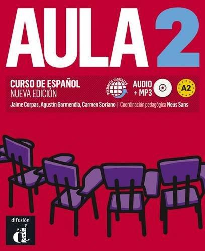 Portada del libro Aula 2 Nueva edición (A2) - Libro del alumno (Ele - Texto Español)