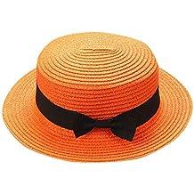 Overdose Sombrero Adulto Gorro Vacaciones en la Playa Sombra de Moda  Bowknot Sombrero Transpirable Sombrero de d75ca16b3e1