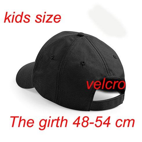 4sold Fille Enfants Chapeau Bonnet Unisexe A-Z Alphabet New Casquette de Baseball Cap noir Garçon I