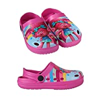 takestop Slippers Crocs Slippers Sea Rubber Non-Slip Poppy Trolls Beach Clogs Cartoon Pool Sea Girl Child Unisex Pink Size: 13 UK Child/1 UK