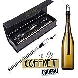 Drink Boutique Rafraichisseur à vin - Coffret Cadeau pour Amateurs de vin - Coffret 3 en 1: Refroidisseur, décanteur, aérateur et Bec verseur - Accessoire pour vin Blanc et Rouge