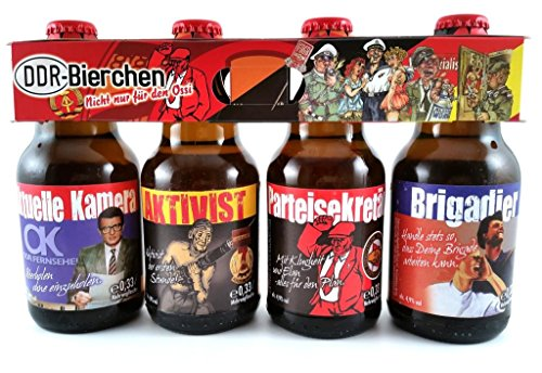 DDR Bier im witzigen Ostalgie 4er Träger Teil 1 (Russische Lustige Geschenke)