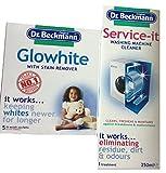 Dr. Beckmann Glowhite mit Fleckenentferner Plus Waschmaschine Reiniger