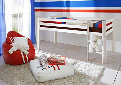 Avanti trendstore - letto rialzato in legno massiccio bianco, ca. 97x113x207 cm