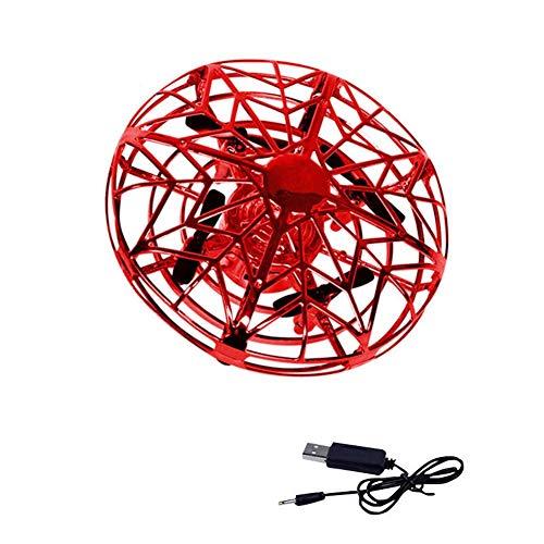 Hearthrousy UFO Mini Drône Balle Volante RC Vol Drône Hélicoptère Flying Jouets Infrarouge à Induction Main contrôlée Drone Flying Jouets avec Lumière LED d'avions Anti-Collision pour Enfants