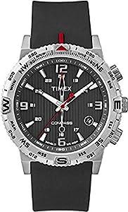 Timex T2P285 - Reloj de cuarzo para hombre, correa de silicona color negro de Timex