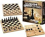 Editrice Giochi 6037172 - Dama, Scacchi e Tris in Legno