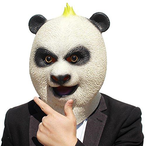PartyCostume Deluxe Neuheit-Halloween Kostüm Party Latex Tierkopf Schablone Masken Panda
