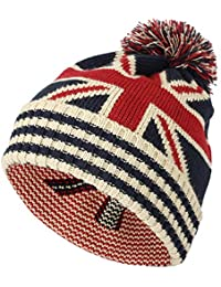 WITHMOONS Knit US Canada Flag Union Jack Pom Beanie Hat JZP0027 1698deb69570