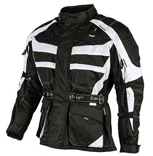 Ledershop-online 1152 Bangla Motorradjacke Tourenjacke Cordura600 schwarz-weiss XL