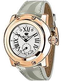 Glam Rock Miami Damen-Armbanduhr 46mm Armband Leder Grau Schweizer Quarz Zifferblatt Silber GR10061N