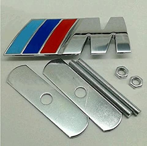 Metal Chrome Grill Badge Fits Bmw Metal Front Grille Badge With Fixings Emblem Badge Sport Power Tec 1 3 4 5 6 Series M3 M5 X5 Brand New