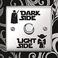 "Aufkleber ""Dark Side - Light Side"" Vinyl Sticker für Lichtschalter Kinderzimmer durch Inspired Walls® (2 SETS)"