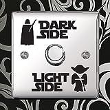 """Star Wars Aufkleber """"Dark Side - Light Side"""" Vinyl Sticker für Lichtschalter Kinderzimmer durch Inspired Walls® (1 SET)"""