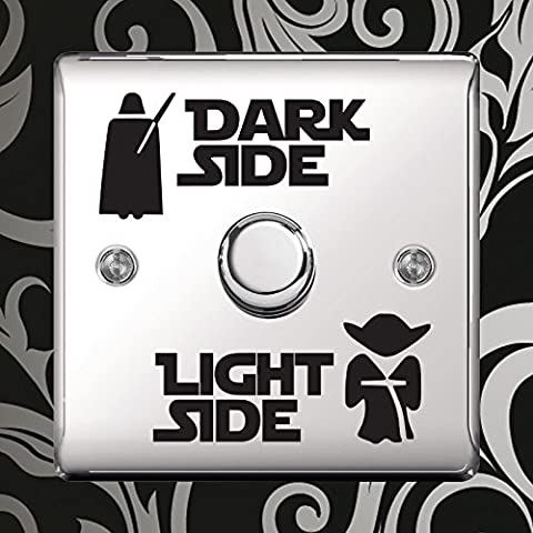 Star Wars Dark Light Side Switch Vinyl Decal Sticker Child Room Lightswitch Wall by Inspired Walls® (3)
