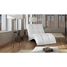 JUSThome LAGUNA Sillón relax chaise longue Piel sintética (lxLxH): 76x170x83 Blanco