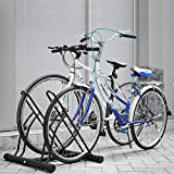 FEMOR Wall Mount Bicycle Rack for 2 Bikes Stand Double Bicycle Holder Storage