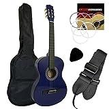 Tiger CLG4-BL Guitare Classique 3/4 Bleue