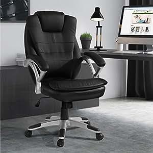 Miadomodo chaise de bureau en simili cuir fauteuil de - Amazon chaise de bureau ...