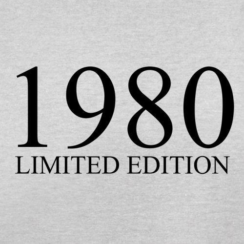1980 Limierte Auflage / Limited Edition - 37. Geburtstag - Herren T-Shirt - 13 Farben Hellgrau