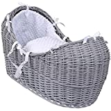 Clair de Lune Dimple Grey Wicker Noah Pod, White