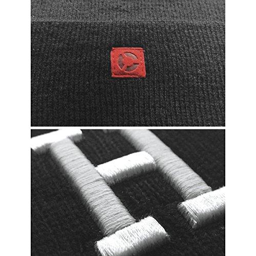 MasterDis Letter Cuff Knit Beanie Schwarz_333