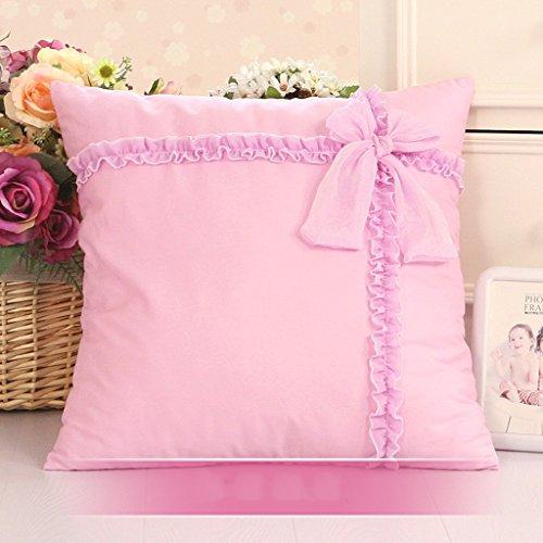 LAAN Moderne quadratische populäre Sofa-Kissenbezug-Reine Farben-Spitze-entfernbare Abdeckung-waschbare Perle für Bett/Fenster/Auto/Sofa u (Farbe : D, größe : 60 * 60cm) (Bett, Kissen Protektoren)