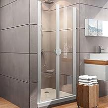 80 transparent 100 90 cm hauteur 190 cm,/ouverture /à 180/degr/és porte battante niche en aluminium cristal transparent et mat 6/mm Yellowshop/-/Box douche 70