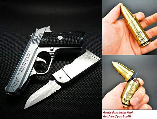 Hawk Pistolen Feuerzeug PPK 1:2 Crossfire Chrom NEU&OVP!!! -