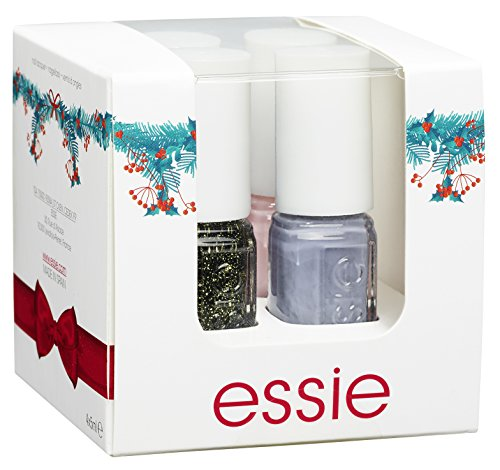 Essie Mini Cube 4 -Nagellacke Fiji, Cocktail Bling, In the Moodring und Bahama Mama, 1er Pack (4 x 5 ml)