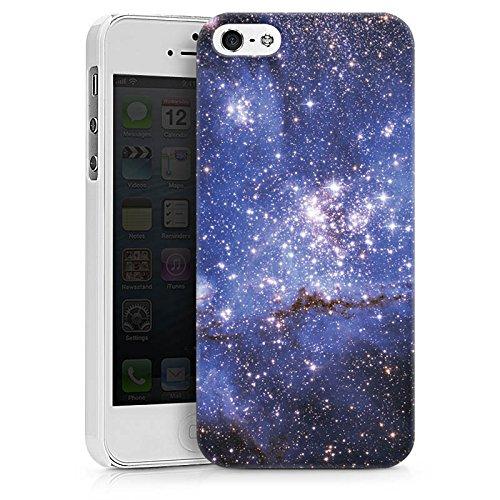 Apple iPhone X Silikon Hülle Case Schutzhülle Galaxy Muster Space Hard Case weiß