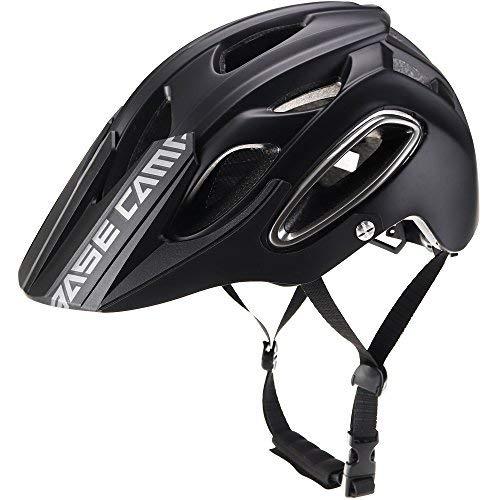 Basecamp NEO Mountainbike Helm, MTB Helm Fahrradhelm für Herren Damen (Schwarz)