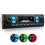 XOMAX XM-RSU255BT Autoradio mit Bluetooth Freisprecheinrichtung, RDS FM Radio Tuner, 3 Farben einstellbar, USB, SD, MP3, AUX-IN, 1 DIN