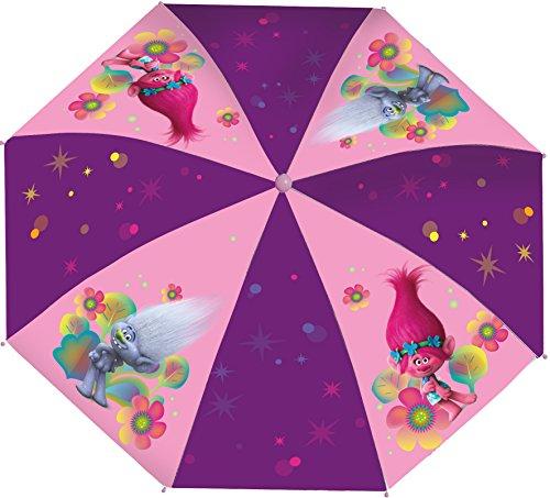 Trolls Hand Kinderschirm Taschenschirm für Schul-Ranzen und Rucksack 92cm (Ninja Jungen Für Up Make Kostüm)