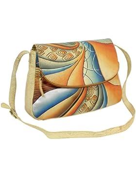 Geschenkset - exklusiver Greenland Nature Schlüsselanhänger + Art & Craft Umhängetasche Handtasche Henkeltasche...