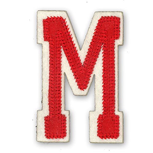 alphabet-varsity-college-style-letters-iron-on-motif-red-letter-m-size-h-6cm