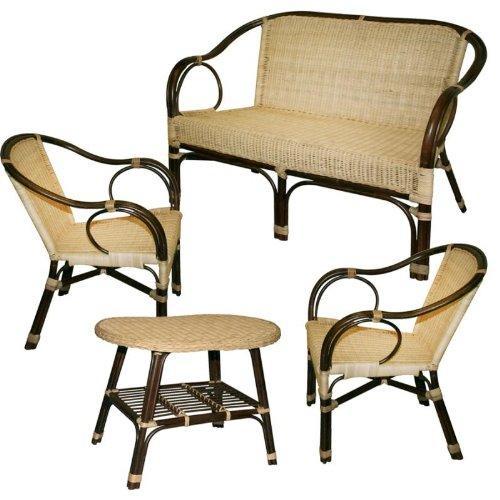 Wohnzimmer in Montmartre Rattan Sofa Sessel und Tisch-Möbel Garten