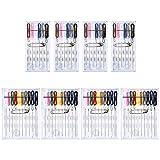 Pllieay 8 cajas 64 piezas de colores surtidos preroscados Kit de costura de viaje Kit de reparación de ropa para Quick Fix Suministros de costura