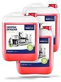 Kalklöser für Kaffeevollautomaten Kaffeemaschinen Kaffeeautomaten Wasserkocher - 3 x 5 Liter Kanister Flüssig-Entkalker mit Farbindikator inklusive Ausgießer