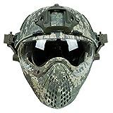 Taktischer Bereich schneller abnehmbarer Paintball TPU Tarnungs-Sturzhelm mit Schutzbrillen-Maske