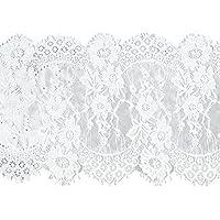 Gazechimp Ajuste de Encaje Suave de Cordón de Pestaña Diseño: Muy Elegante Accesorios Multiusos - Blanco