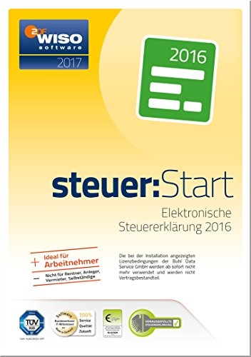WISO steuer:Start 2017 (für Steuerjahr 2016 / Frustfreie Verpackung) (Immobilien-steuer-software)