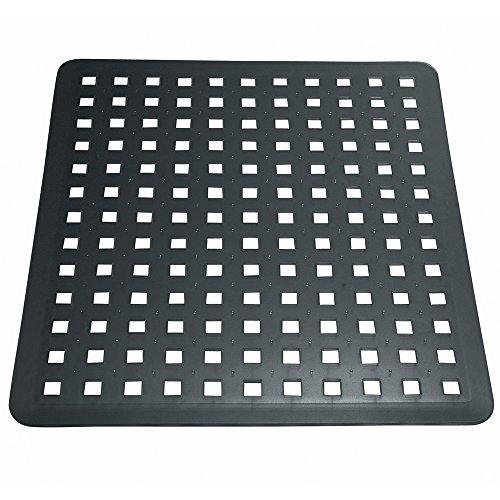 InterDesign Basic Spülbeckenmatte, PVC Kunststoff, schwarz