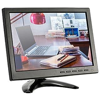 KKmoon CCTV Monitor 10,1 Zoll LED IPS HD mit HDMI/VGA/BNC/AV/USB-Eingang Empfängerunterstützen HDMI 1080p/1080i Lautsprecher U Festplatte PAL/NTSC Adaptive für CCTV-Kamera-Überwachungssystem