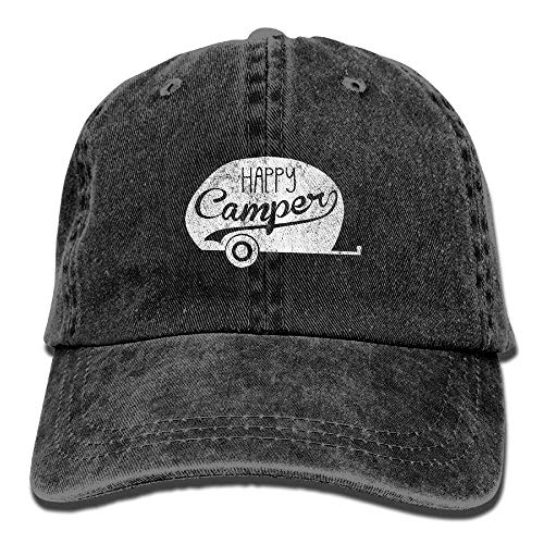guolinadeou Happy Camper Vintage Vintage Washed Dyed Cotton Twill Low Profile Adjustable Baseball...