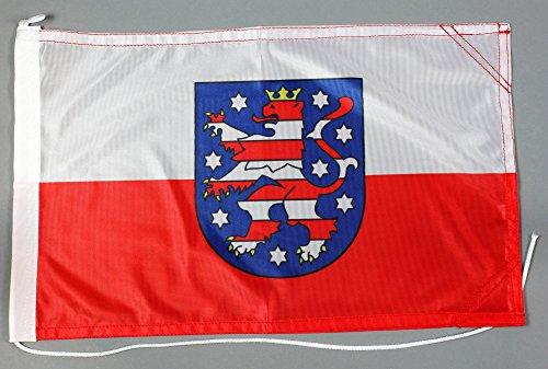 Bootsflagge Thüringen 30 x 45 cm in Profiqualität Flagge Motorradflagge