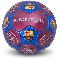 Balón de fútbol con diseño del FC Barcelona y firmas, tamaño 5