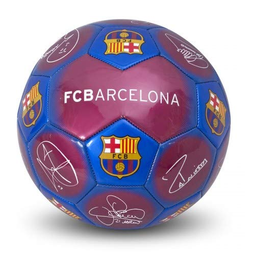 With Fc Barcelona Design And Signature Football       size 5