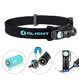 Olight® H1R Nova aufladbar LED Taschenlampe Stirnlampe Kopflampe mit CREE XM-L2 NW LED - inkl. 1 x 3.7V 650mAh RCR123A 16340 Akku,neutralweiß